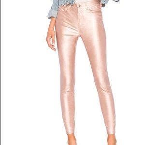 NWT Free People Rose Gold Vegan Leather Pants